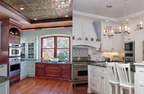 Потолочная плитка – отличный вариант для кухни