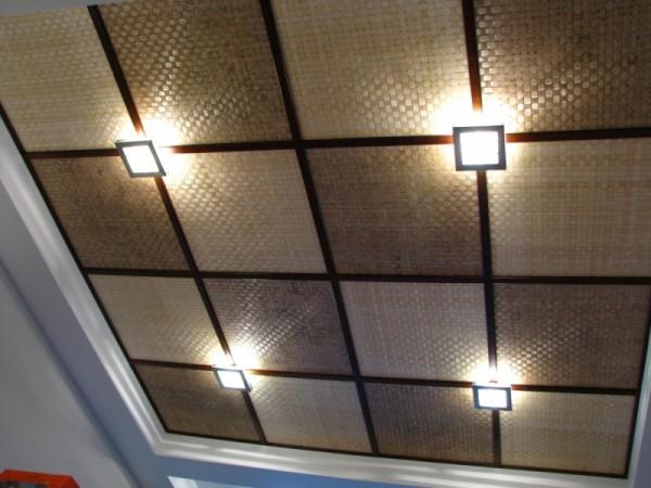 Потолочные панели с обрамлением из гипрока