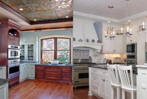 Потолочные плитки можно вписать в любой стиль интерьера