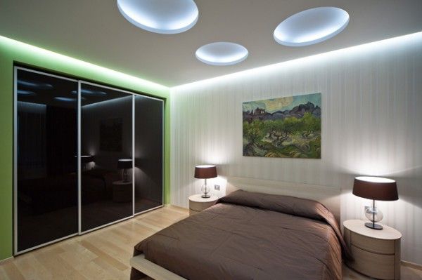 Потолочный дизайн в спальне