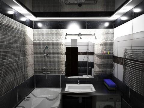 Потолочный «флирт» в ванной комнате