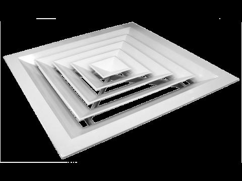 Потолочный квадратный диффузор из пластика