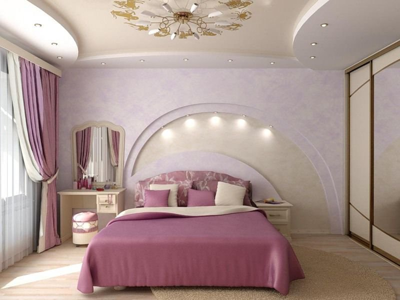 Потолки с гипсокартона для комнат с картинками