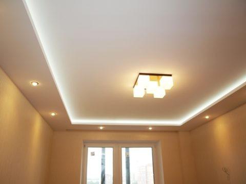 Потолок из гипсокартона двухуровневый