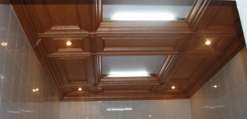 Потолок из МДФ в ванной