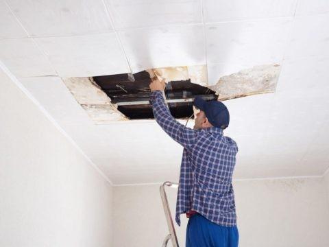 Потолок из панелей ПВХ, наклеенных на ГКЛ – не самый лучший вариант
