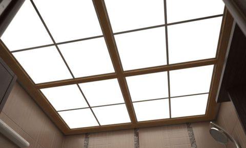 Потолок из плексигласа в ванной