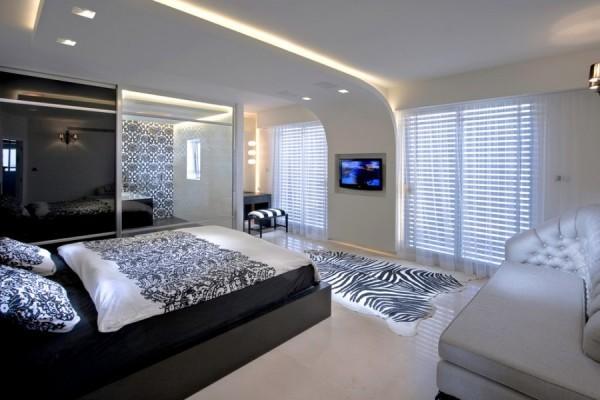 Потолок подвесной в спальню: гипсокартон