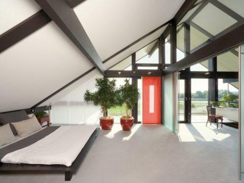 Потолок в доме фахверк