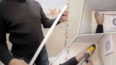 При желании упростить задачу, можно с плинтусов удалить монтажную часть канцелярским ножом и посадить их на клей