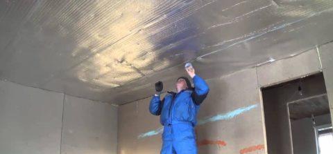 Применение пенофола — еще один эффективный способ утеплить потолок