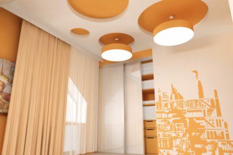 Пример использования матовых потолков