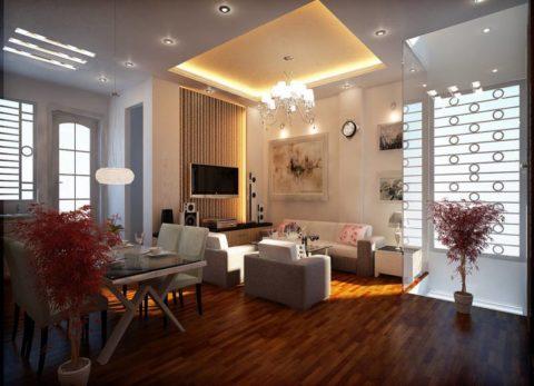 Пример зонирования гостиной