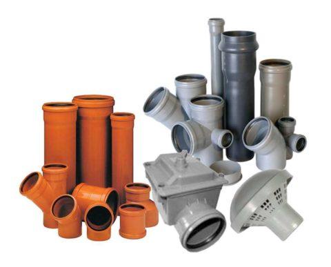 ПВХ применяется для производства канализационных труб и фасонины к ним