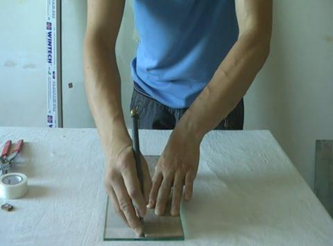 Работа со стеклорезом