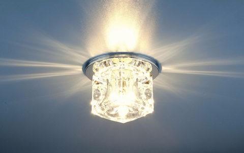 Рассеивание света у наружного светильника