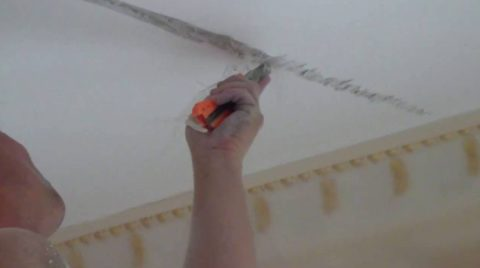 Расшиваем трещину острым ножом