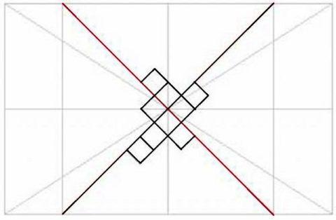 Разметка для диагональной облицовки