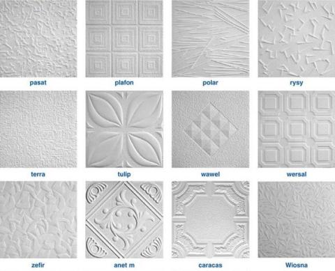 Разнообразие фактур и рисунков изделий из пенополистирола