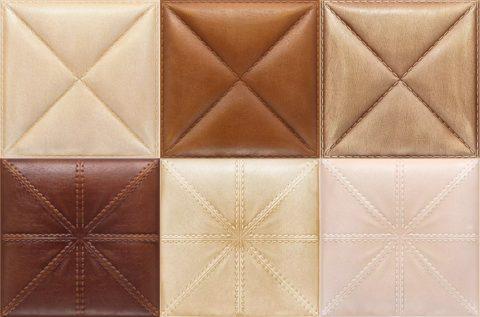 Разнообразие оттенков кожаных панелей