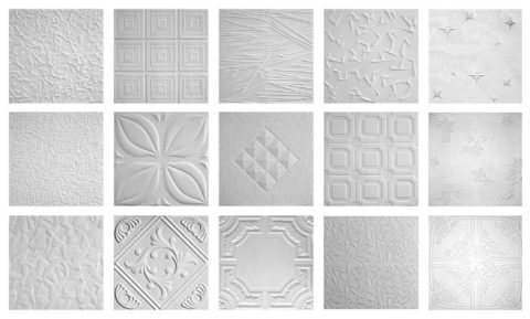 Разнообразие рисунков плитки из полистирола