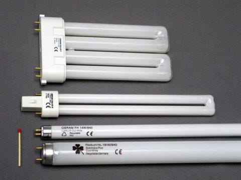 Разновидности конструкций люминесцентных ламп
