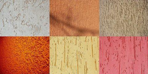 Разновидности рельефа фактурной штукатурки