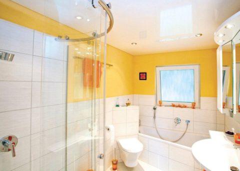 Ремонт - потолок в ванной натяжной