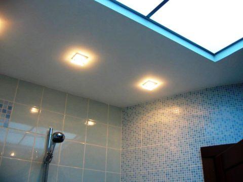 Ремонт в ванной – потолок из гипсокартона