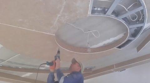 Рисунки потолка из гипсокартона: подшивка гипсокартоном