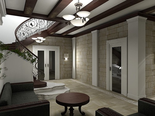 Романский стиль в дизайне загородного дома