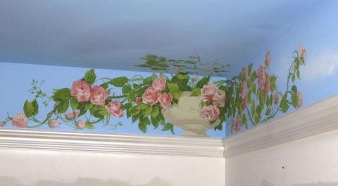 Роспись стен и потолков в квартире