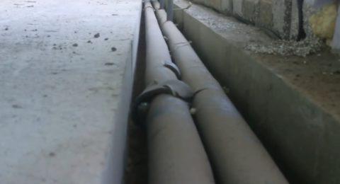 Ровная ниша для лежаков отопления потом закроется декоративной решеткой