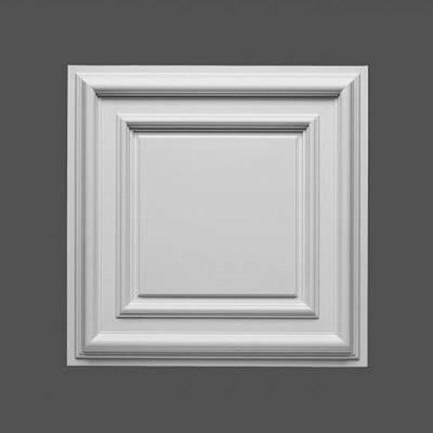 Розетка в виде кессона, чаще используется не под люстру, а для обрамления или полной облицовки потолка