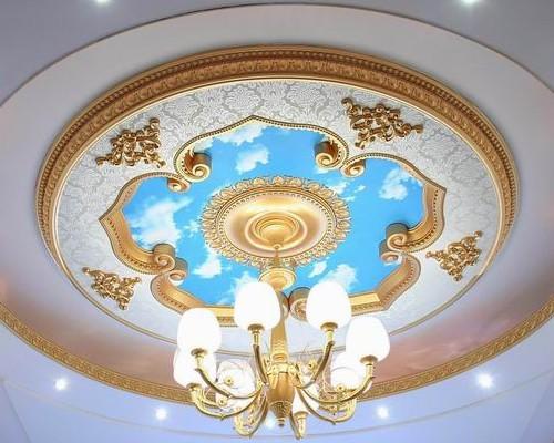 Ручная роспись на подвесном потолке