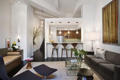 С помощью гипсокартона можно сделать потолок в любом стиле: современный лофт
