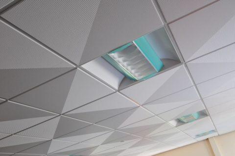 Сборный кассетный потолок