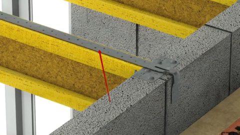 Шаг 5 – усиление мест примыкания балок к стенам