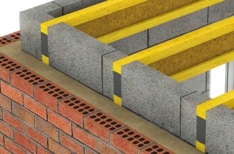 Шаг 8 – укладка между балками блоков