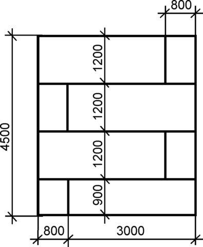 Схема монтажа листов ГКЛ на обрешётку