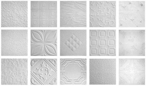 Штампованные элементы всегда белые, так как изготовлены из пенопласта без покрытия