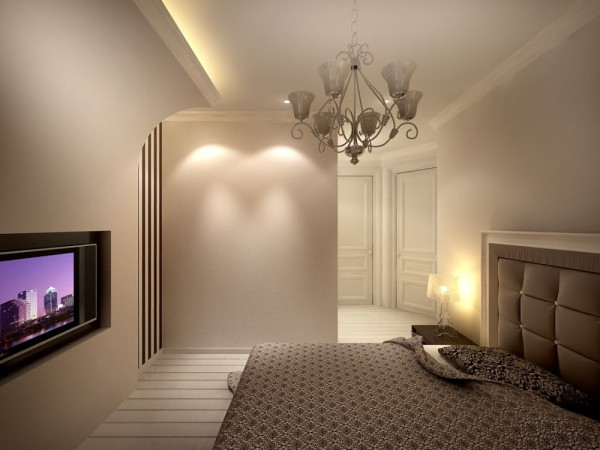 Штукатурка на потолок и стены: стандартный материал в нестандартном интерьере