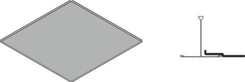 Система крепления подвеса для потолочной плитки в технологии Армстронг