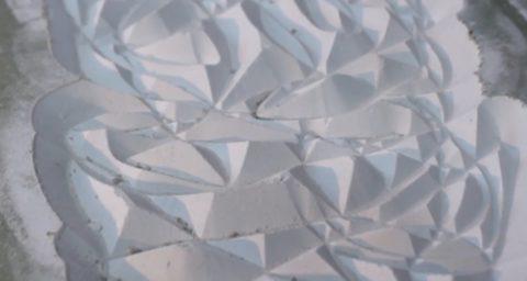 Сложная узорчатая поверхность, сделанная при помощи фрезы