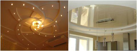 Сложность потолка зависит от стиля помещения