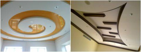Сложные формы уместны в просторных помещениях