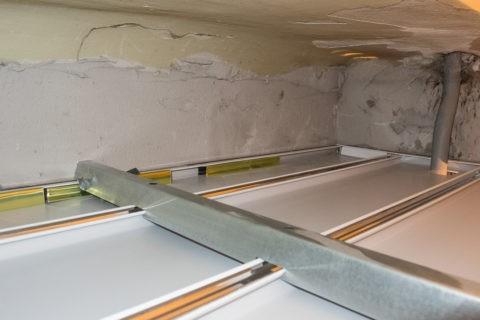 Смонтированный потолок – вид сверху