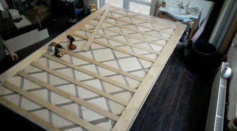 Совмещение частей панели