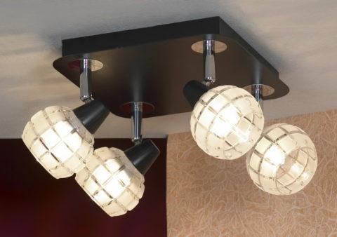 Современные светильники на коротких штангах