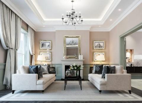 Современный дизайн классических потолков из гипсокартона